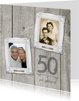 50 jaar huwelijk fotolijstjes