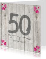 50 jaar huwelijks jubileumkaart