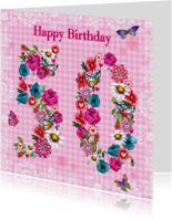 50 jaar Verjaardag Bloemen Vrolijk