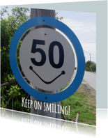 50 Keep on smiling BORD