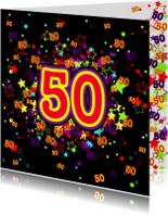 50 Vrolijke kaart met sterren
