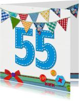 55  jaar verjaardag -BF