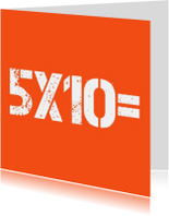 5x10=50