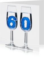 60 in champagne glazen