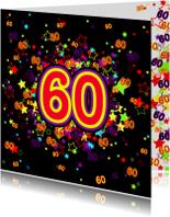 60 Vrolijke kaart met sterren