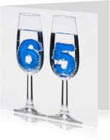 65 in champagne glazen