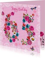 65 jaar Verjaardag Bloemen Vrolijk