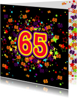 Verjaardagskaarten - 65 Vrolijke kaart met sterren