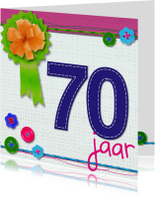 70 zeventig jaar verjaardag -BF