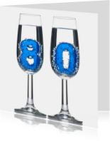 80 in champagne glazen