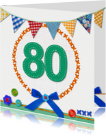 80 jaar  verjaardag -BF