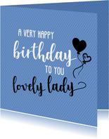 A very happy birthday - felicitatiekaart