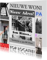 Verhuiskaarten - advertentie feest nieuw huis zelf invullen