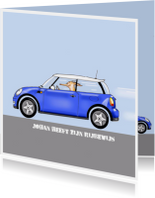 auto mini cooper blauw
