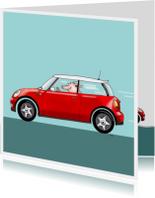 auto mini cooper rood