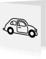 Auto zwart wit rijbewijs