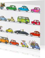 autos achter elkaar