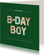 B-day Boy - retro - verjaardagskaart