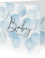 'Baby Boy' Glückwunschkarte Geburt