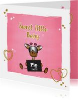 Baby lief en glamour girafje