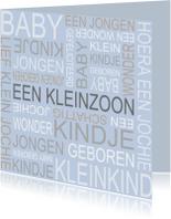 Bar creatief - Kleinzoon tekst