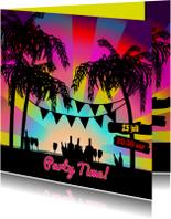 BEACHE PARTY uitnodiging