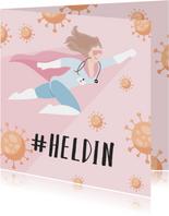 Bedank kaart voor alle heldinnen verpleegsters
