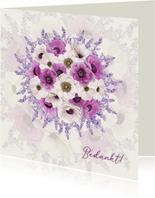 Bedanken met bloemenboeket
