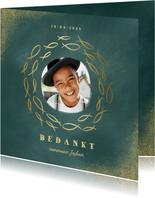 Bedankkaart communie met foto en gouden visjes