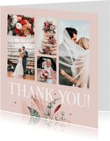 Bedankkaart klassiek stijlvol droogbloemen geschilderd