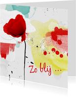 Bedankkaart roos creatieve achtergrond