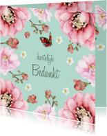 Bedankkaartjes - Bedankkaart Vlindertuin