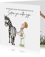 Bedankkaartjes dokter met zebra
