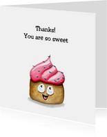 Bedankkaartjes sweet cupcake