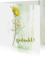 Bedankt bloem gele winterjasmijn