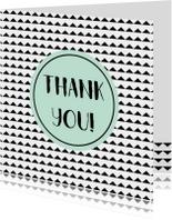 "Bedankt kaartje ""thank you"" - WW"