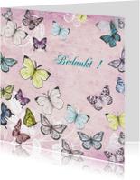 Bedankt met mooie vlinders