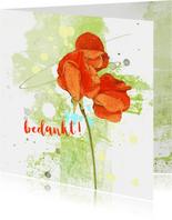Bedankt oranje bloem
