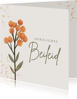 Beileidskarte Blumenzweig