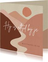 Bemoediging - Christelijke kaart met Bijbeltekst