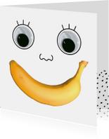 Beterschap banaan gezicht