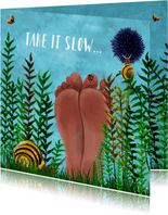 Beterschap Blote voeten in het gras