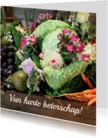 Beterschap fruit en bloemen