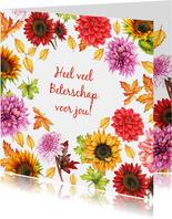 Beterschap herfstbloemen