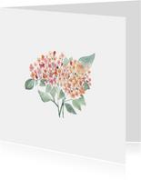 Beterschap kaart met hortensia - natuur