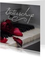 Beterschap kaart muziek piano
