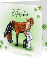 Beterschap kaarten Paard met dokter