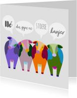 Beterschap kleurplaat koeien