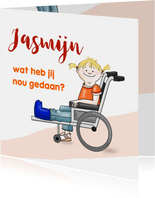 Beterschap meisje rolstoel