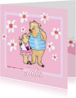 Beterschap meisjes beer met gips